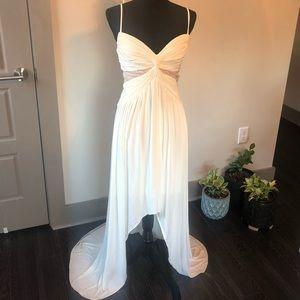 "BCBG ""sophia"" white/marshmallow Dress size 8"